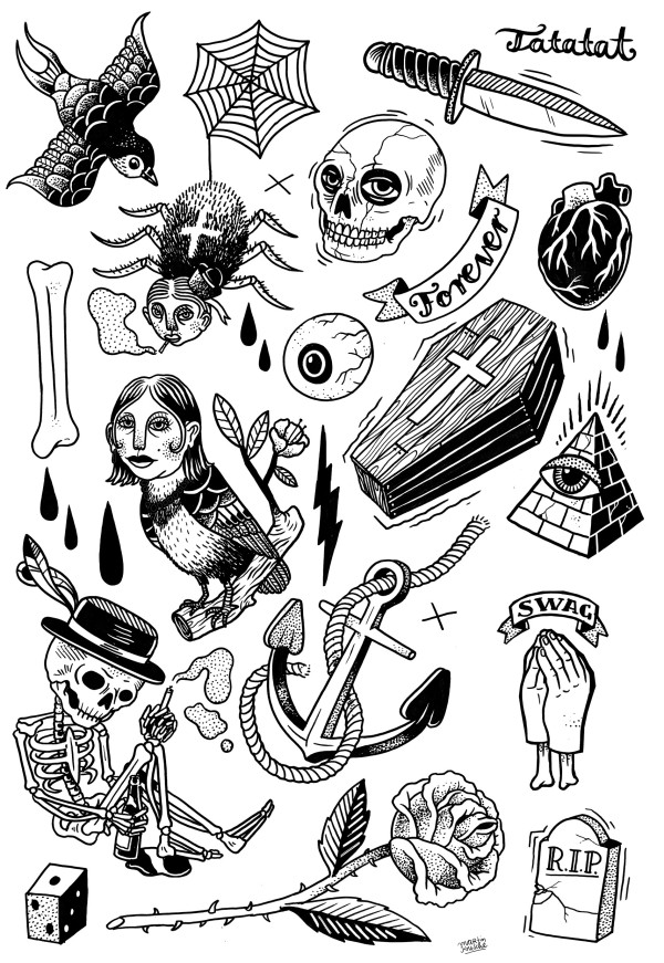 classic tattoo illustrations