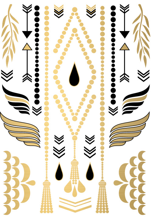 golden temporary tattoo jewelry