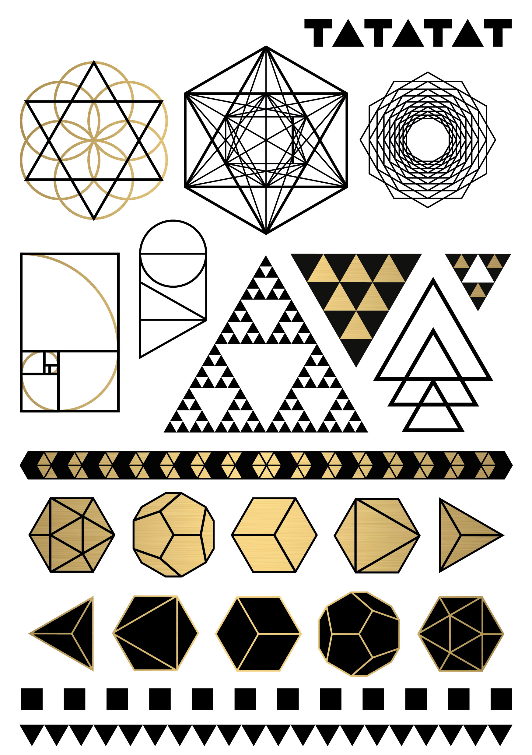 impossible geometry temporary tattoos