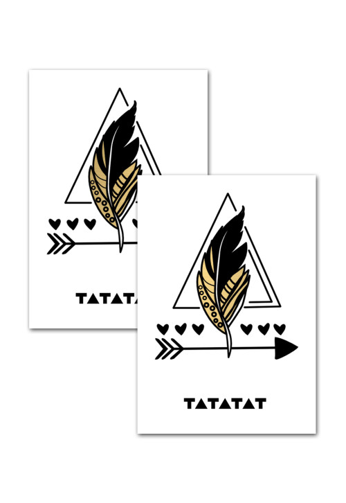 feather-temporary-gold-tattoo