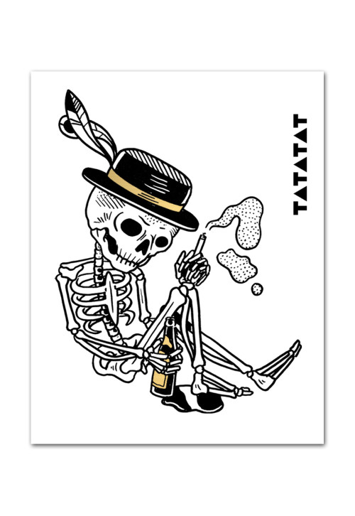 skelleton-drinking-temporary-tattoo