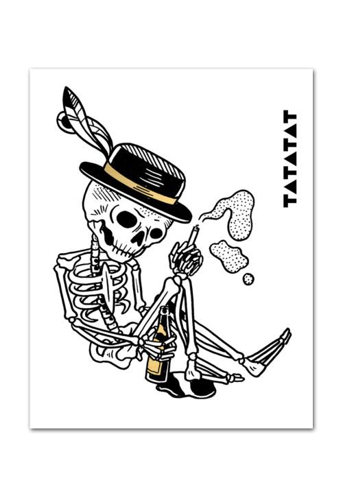 skelleton-drinking-temporary-tattoo